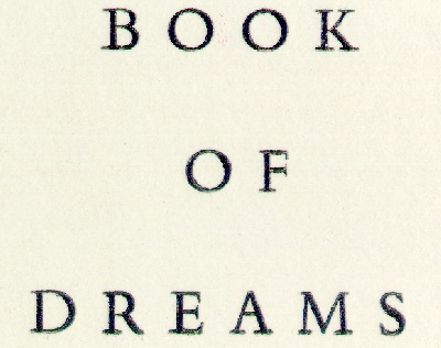 book of dreams title